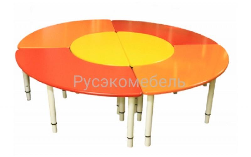 """Стол """"Ромашка №1"""" 160*160 см"""
