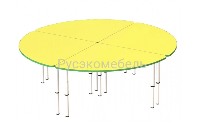 Стол круглый 160 4-е секции