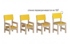 Стул регулируемый для детских садов (красный)