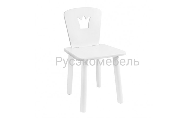 Детский квадратный стул Eco Crown (белый)