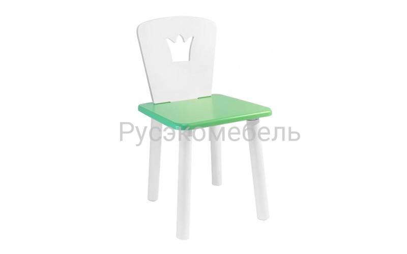 Детский квадратный стул Eco Crown (нежно-зеленый)