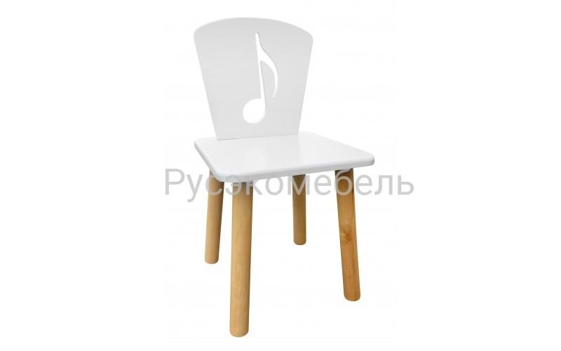 Детский белый стульчик Нота