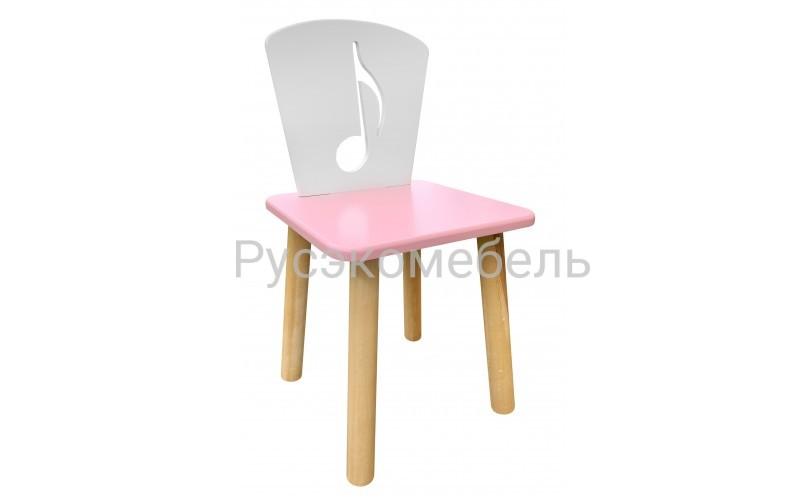 Детский розовый стульчик Нота