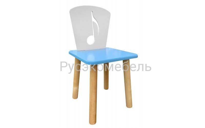 Детский голубой стульчик Нота