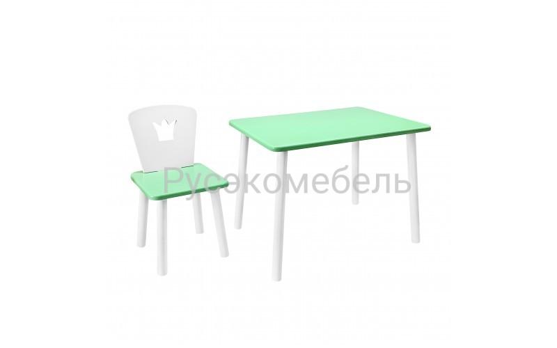 Набор детской мебели Eco Crown (нежно-зеленый)