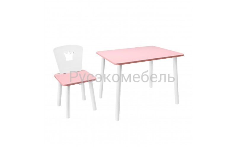 Набор детской мебели Eco Crown (нежно-розовый)