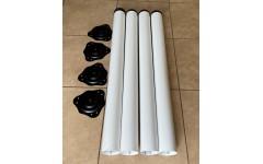 Опоры для стола 710*60 белые, съемные ножки с регулировкой ( 4 шт.)