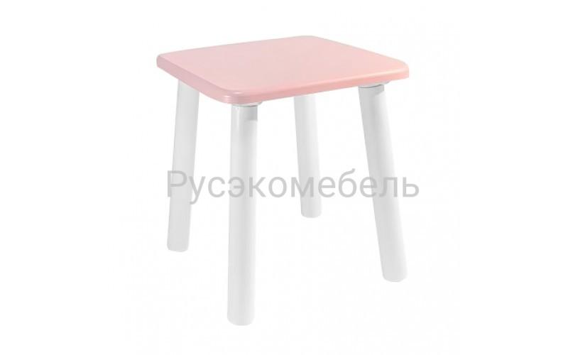 Детский квадратный табурет Eco (нежно-розовый)