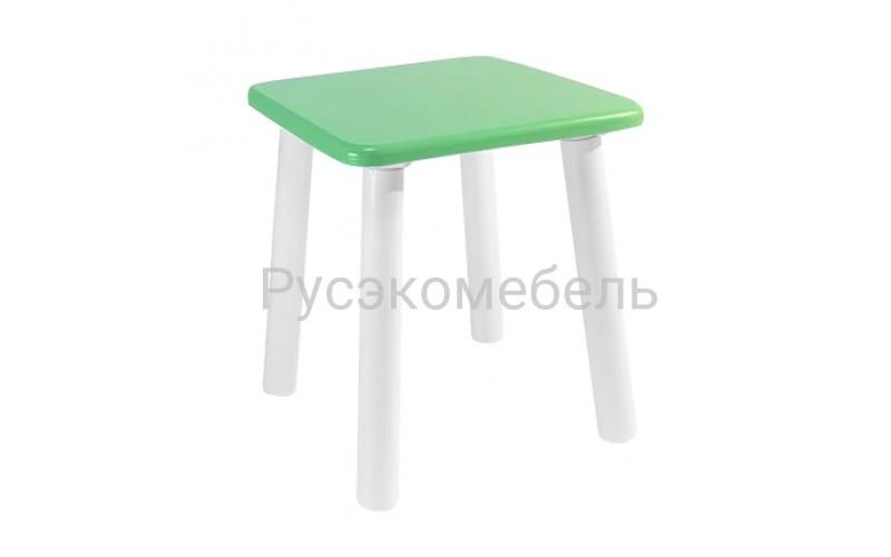 Детский квадратный табурет Eco (нежно-зеленый)