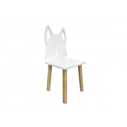 Детский стул Лисенок. натуральные ножки