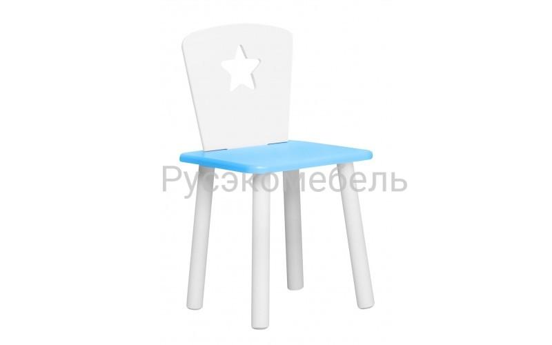 Детский голубой стульчик Звездочка