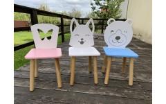 Детский стул Бабочка, ножки натуральные