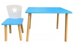 Набор детской мебели Звездочка голубой