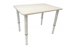 Регулируемый большой стол 70*50 белого цвета