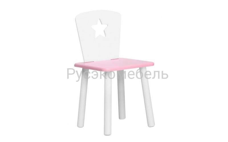 Детский розовый стульчик Звездочка