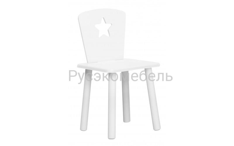 Детский белый стульчик Звездочка