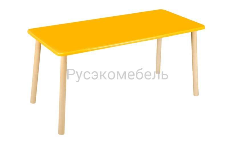 Стол прямоугольный 110*50 для двоих желтый