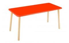 Стол прямоугольный 110*50 для двоих красный