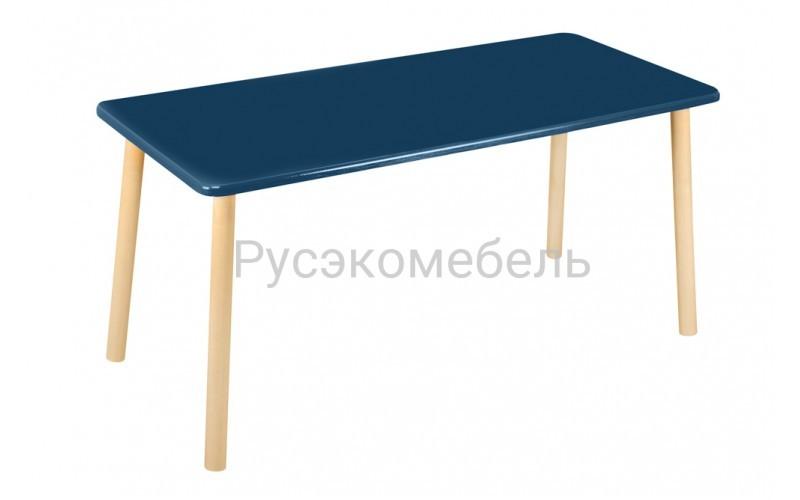 Стол прямоугольный 110*50 для двоих синий