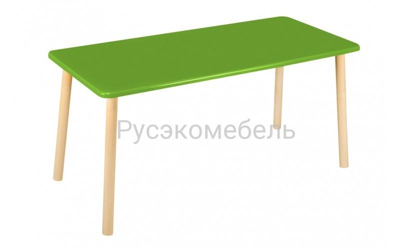 Стол прямоугольный 110*50 для двоих зеленый