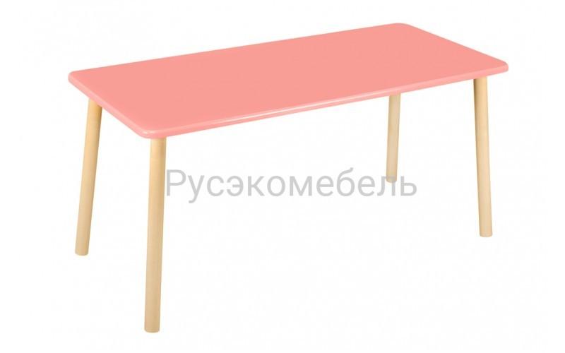 Стол прямоугольный 110*50 для двоих розовый
