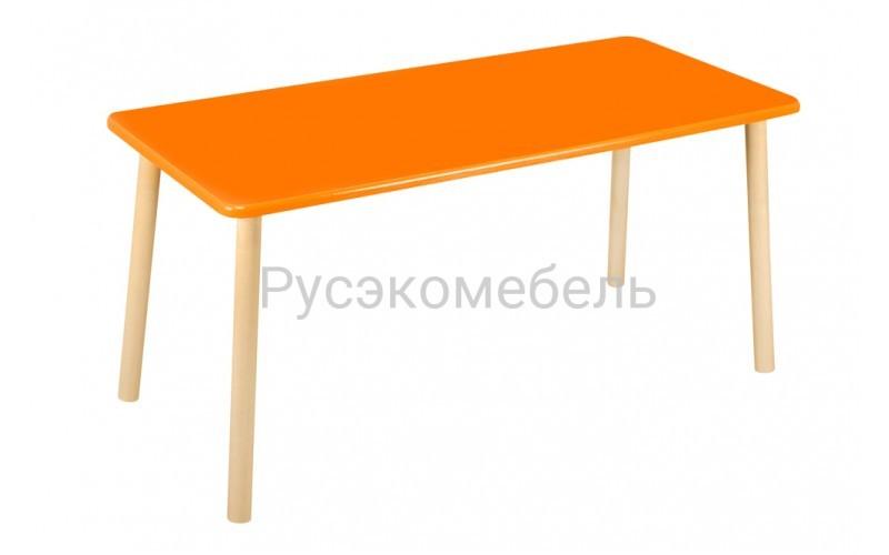 Стол прямоугольный 110*50 для двоих оранжевый