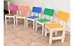 Стул регулируемый для детских садов (голубой)