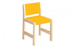 Стул регулируемый для детских садов (желтый)