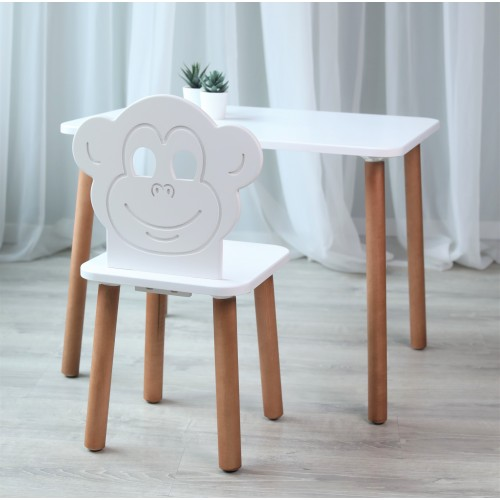 Детский стол  70*50  серия Scandi белого цвета