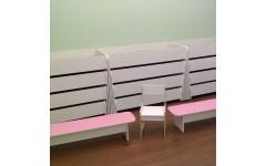 Скамейка для детского сада ЛДСП