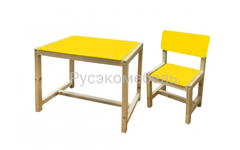 """Набор мебели ( детский стол + стул) регулируемый """"Eco Pine"""" №2"""