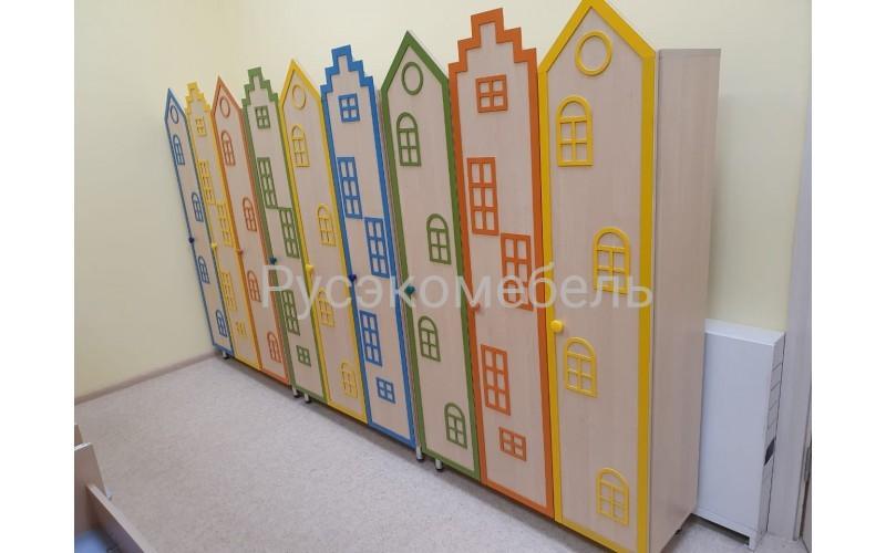Шкаф для раздевалки одноярусный с декором